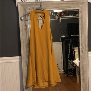Mustard Choker Neck Dress